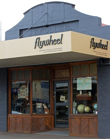 New Norfolk, Australia: Flywheel store front