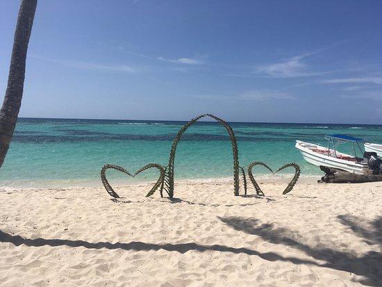 Bayahíbe, República Dominicana: canto de la playa