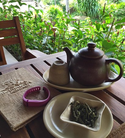 Laem Set, Thailand: Organic tea with stevia
