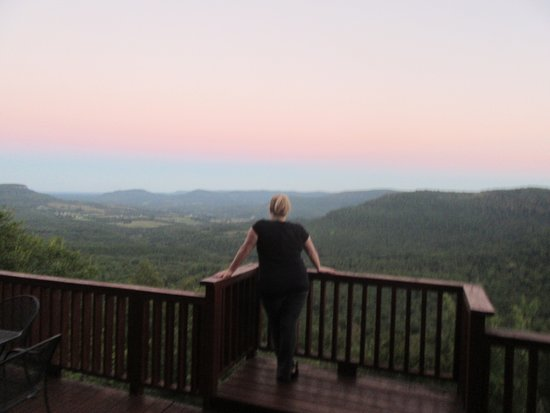 Jasper, Арканзас: Bottom deck at Sunset