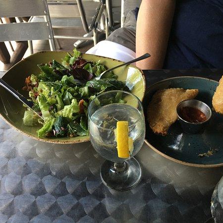Bear Mountain, NY: Fall Salad and chicken empanadas