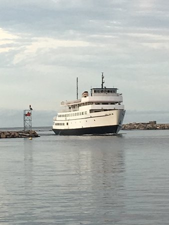 Block Island Ferry: Slow ferry and a fast ferry, you choose! light house was lifted and moved 200ft back from cliffs