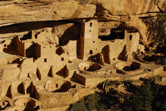Mancos, CO: Cliff Palace - 130 rooms for almost 100 Pueblo Indians