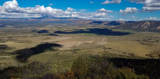 View across the Mancos valley from atop Mesa Verde.