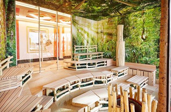 aufgusszeremonie in der apollon sauna bild von thermen badewelt euskirchen euskirchen. Black Bedroom Furniture Sets. Home Design Ideas