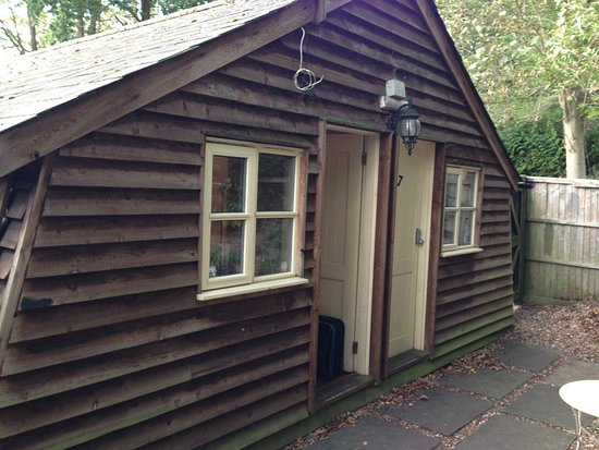 Woodland Lodge: View of two lodge doors