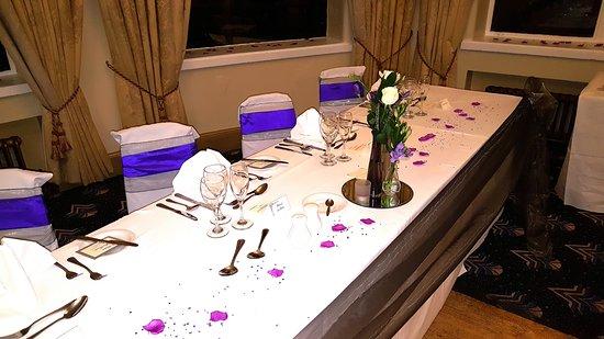 The Bulkeley Hotel: wedding room set up