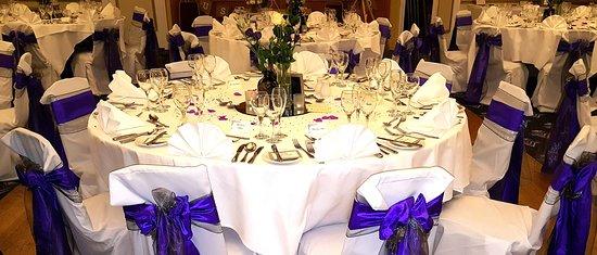 The Bulkeley Hotel wedding table set up & wedding table set up - Picture of The Bulkeley Hotel Beaumaris ...