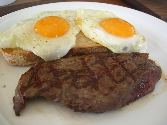 Barre, VT: Steak and Eggs!