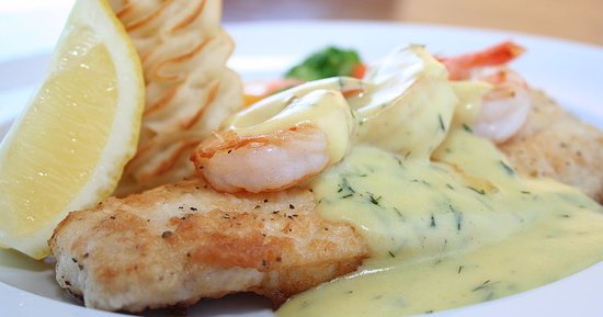 Lower Sackville, Canada: Haddock & Shrimp with Dill Hollandaise Special