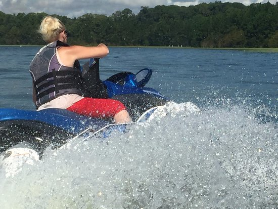 Sammy Duvall Watersports Centre: My wife trying to splash me!