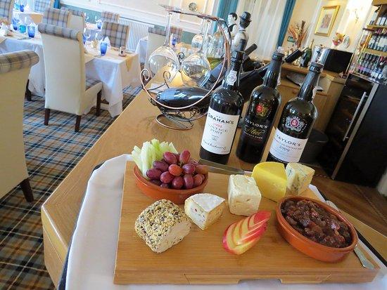 Edzell, UK: Cheese Board at Glenesk Hotel Fairways Restaurant
