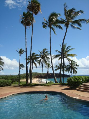 Maunaloa, Hawaje: pool with view of the ocean