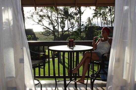 Maunaloa, Hawái: tropical lanai wtih oceanview