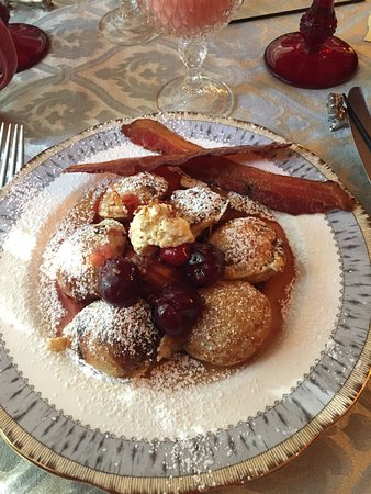 The Cedar House Inn: Mini Marscapone Stuffed Pancakes (Ebelskivers)