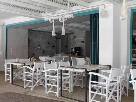 Milopotas, Griekenland: l'espace petit déjeuner