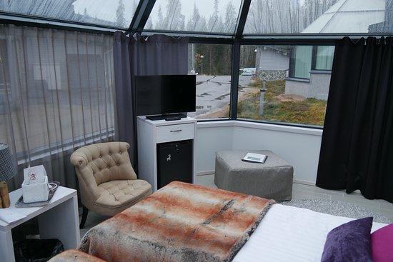 Luosto, Finland: ガラス・イグルー室内