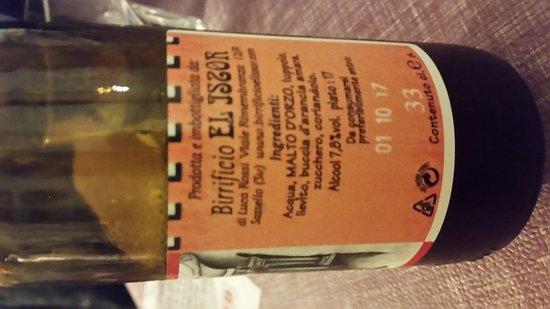 Bardineto, Italy: Birra artigianale ottima!