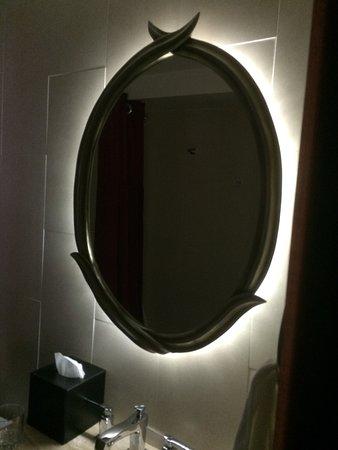 The Heathman Hotel: backlit mirror in bathroom