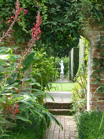 Sissinghurst Castle Garden: View Across Two Garden Areas With Statue As  Focal Point