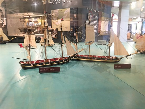 Perry's Victory & International Peace Memorial: Model of 1812 ship batlle