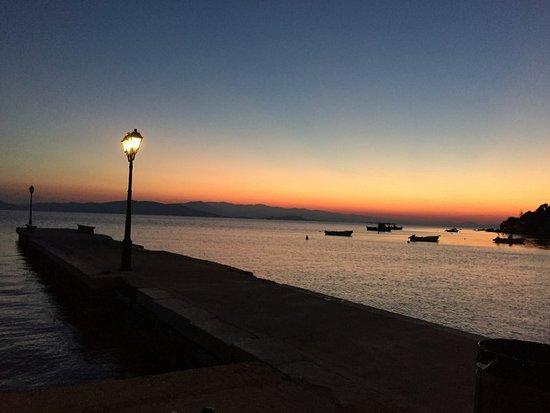 Chorto, Greece: Horto at sunset