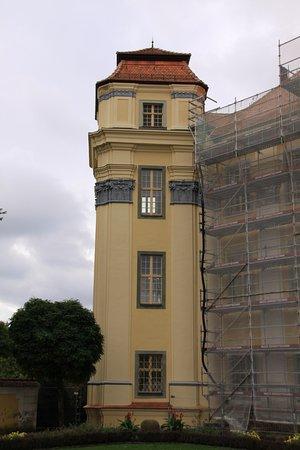 Tettnang, Tyskland: バロックの城、外観改装中、Montfort家
