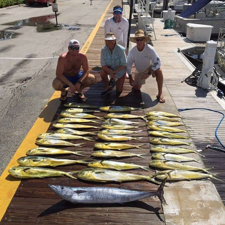 Boynton Beach, FL: got our limit of mahi and a wahoo