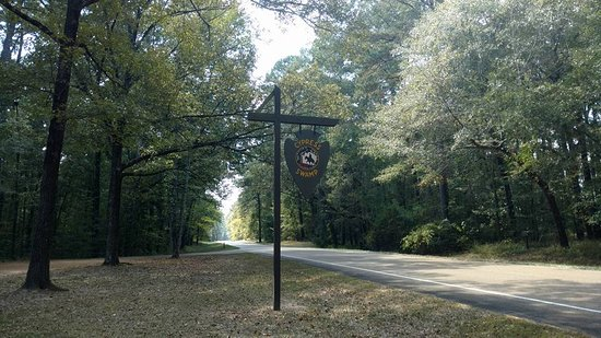 Natchez Trace Multi-Use Trail: Cypress Swamp Road Sign
