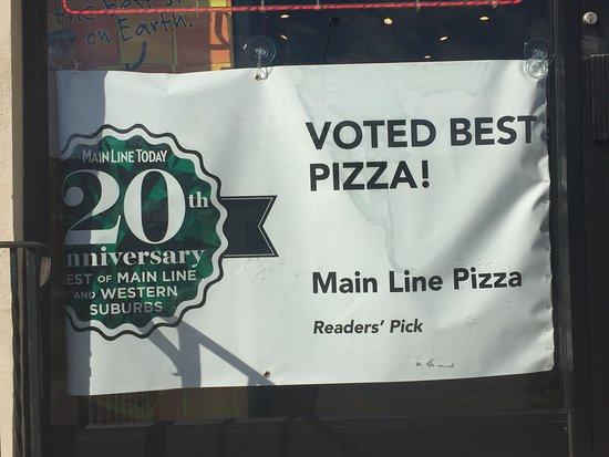 Wayne, Pensilvania: All who voted us best PIZZA, thank you! Also, thanks to our staff this was made possible.