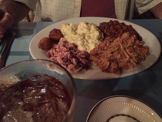 Rosman, Carolina do Norte: BBQ plate