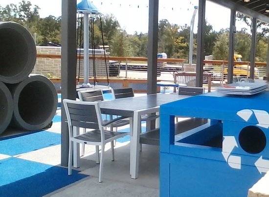 outdoor seating and playground picture of blue baker college