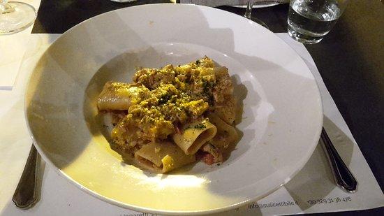 Pioppi, Italy: Paccheri mit Fischsugo