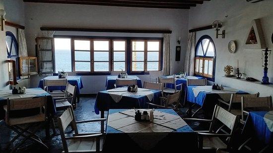 Aegean Hotel: Frühstücksraum mit Meerblick........