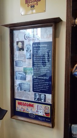 Colman's Mustard Shop & Museum: Difficult to see, blocked by a display, I found this on the way out...it is the start of the sto