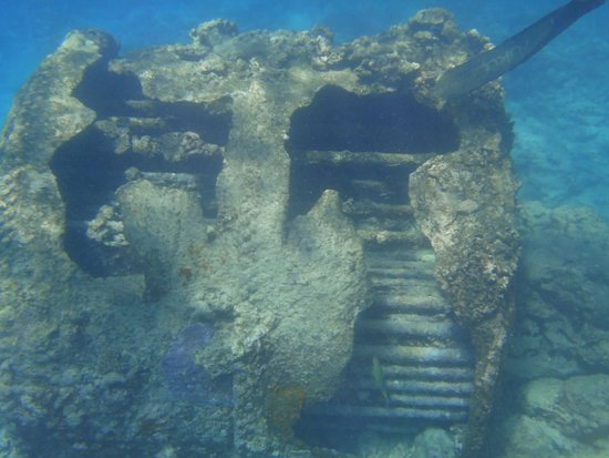 Adventure Cook Islands: Part of ship wreck