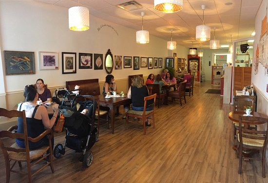 Stratford, CT: Inside of the cafe.