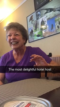 Sitka's Eagle Bay Inn: The hotel owner, a true delight!
