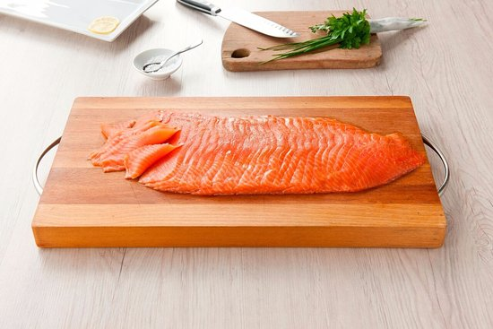 The Marlborough Lodge: Marlborough King salmon features on the menu at the lodge