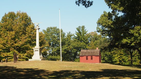 Nathan Hale Bust and Schoolhouse