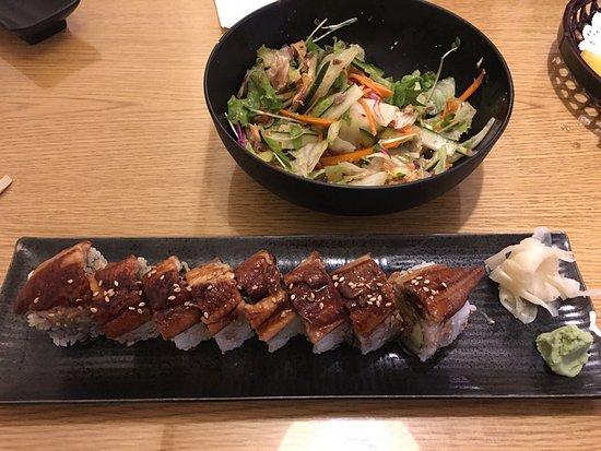 Diamond Bar, CA: Dragon Roll & Skin salmon salad