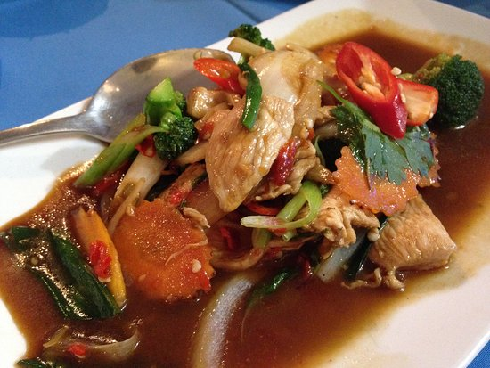 Siam by the Sea : phad pai gaprao (with chicken)