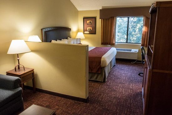 BEST WESTERN PLUS Inn of Williams: King bedroom - spacious and nicely appointed, with sofa seating area