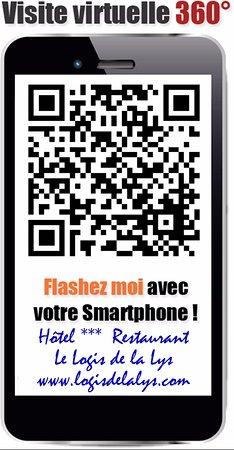 Aire-sur-la-Lys, Prancis: Flashez-moi! Visitez notre établissement le Logis de la Lys