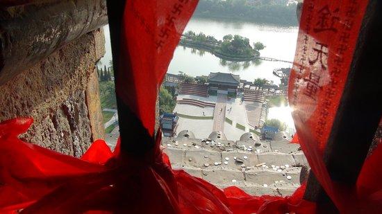 Kaifeng, China: 鉄塔頂上から園内を望む