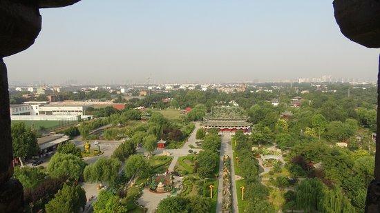 Kaifeng, China: 鉄塔から接引殿方面を望む