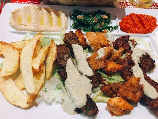 Yalla Habibi: Lunch menu with chicken&beef