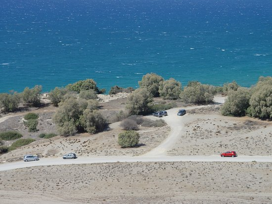 Pitsidia, Greece: To reach to Komos beach is necessary on the car