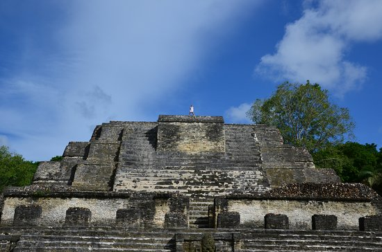 Belize District, Belize: on top of the Temple of the Sun God
