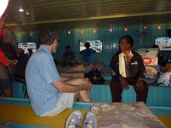 East Kalimantan, Indonesia: Upper Deck Mahakam River Houseboat